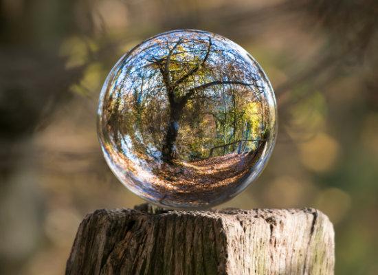 Kugel mit fokus auf Umwelt
